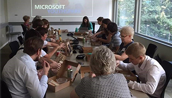 Building innovative dreams during Microsoft visit